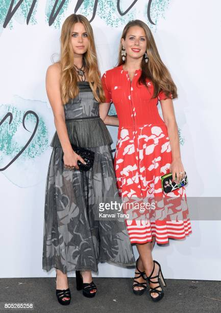 Irene Forte and Lydia Forte attend The Serpentine Gallery Summer Party at The Serpentine Gallery on June 28 2017 in London England