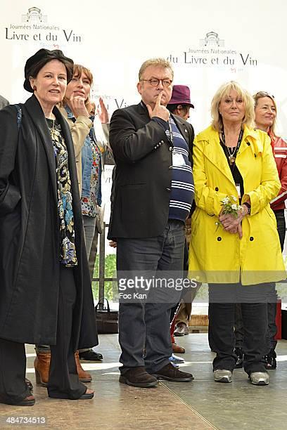 Irene Frain, Julie Debazac, Dominique Besnehard and Mylene Demongeot attend the 'Journees Nationales du Livre et du Vin 2014' At Bouvet Ladurey...