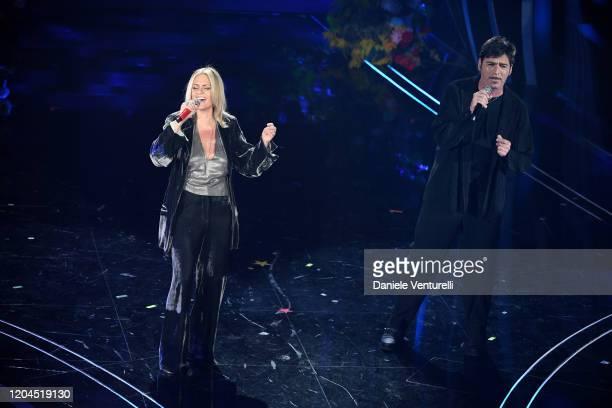 Irene Grandi and Bobo Rondelli attend the 70° Festival di Sanremo at Teatro Ariston on February 06 2020 in Sanremo Italy