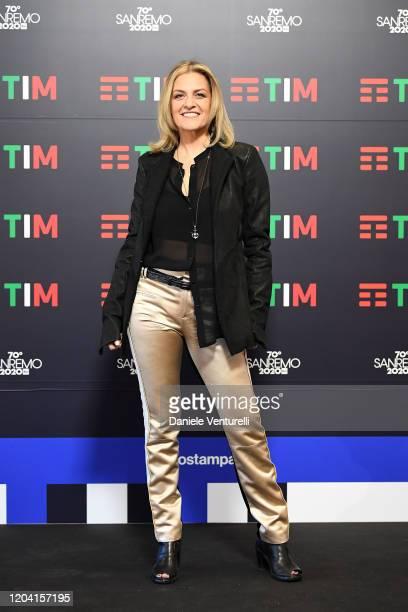 Irene Grandi attends a photocall at the 70° Festival di Sanremo at Teatro Ariston on February 05 2020 in Sanremo Italy