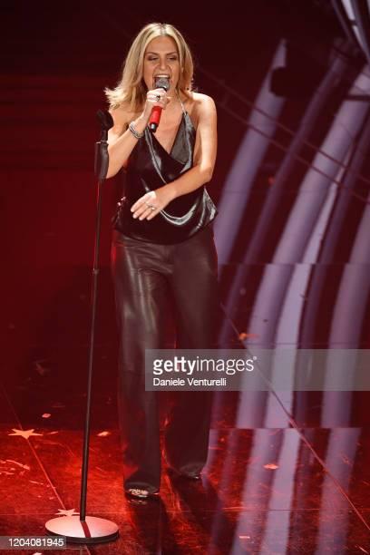Irene Grandi attends the 70° Festival di Sanremo at Teatro Ariston on February 04 2020 in Sanremo Italy