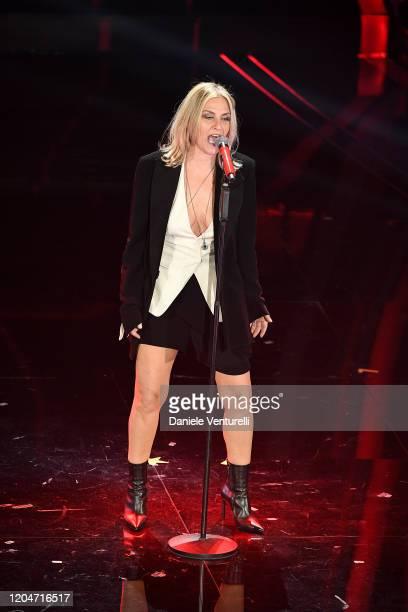 Irene Grandi attends the 70° Festival di Sanremo at Teatro Ariston on February 07 2020 in Sanremo Italy