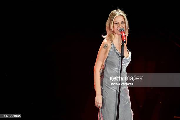 Irene Grandi attends the 70° Festival di Sanremo at Teatro Ariston on February 08 2020 in Sanremo Italy