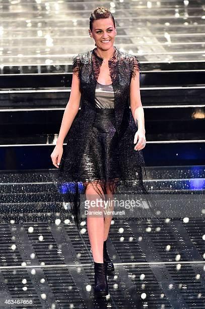 Irene Grandi attends the closing night of 65th Festival di Sanremo 2015 at Teatro Ariston on February 14 2015 in Sanremo Italy