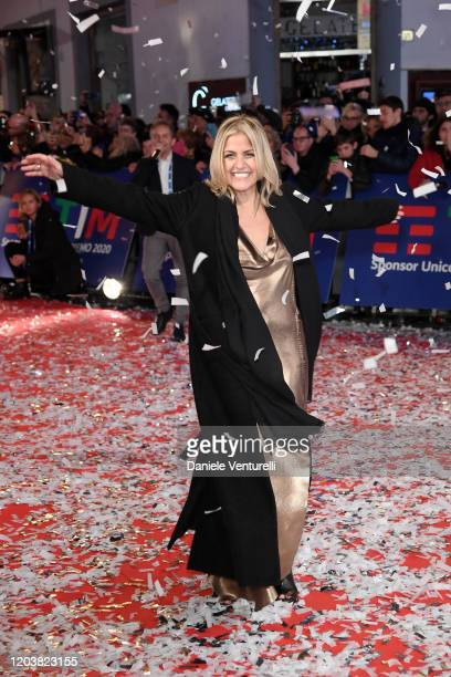 Irene Grandi attends the opening red carpet at the 70° Festival di Sanremo at Teatro Ariston on February 03 2020 in Sanremo Italy