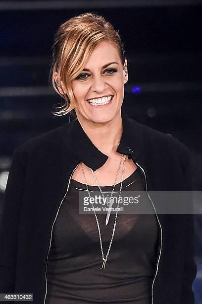 Irene Grandi attends the thirth night of 65th Festival di Sanremo on February 12 2015 in Sanremo Italy