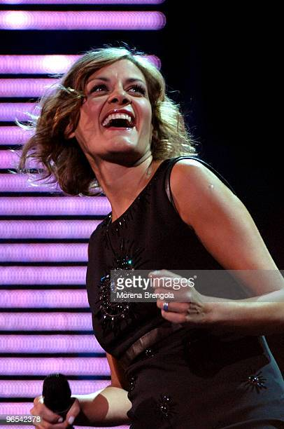 Irene Grandi during the Italian tv show Festivalbar on September 08 2007 in Verona Italy