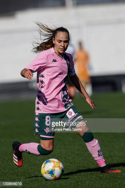 Irene Guerrero of Real Betis Balompie in action during the Spanish League Primera Iberdrola women football match played between Valencia CF Femenino...