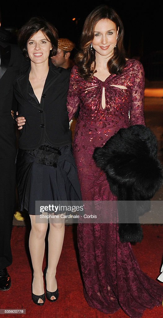 Irene Jacob and Sandrine Kiberlain attend The Dior Party during the Marrakech 10th Film Festival.