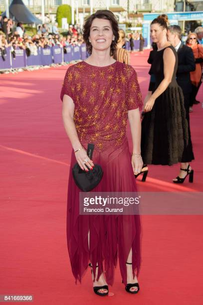 Irene Jacob arrives at the opening ceremony of the 43rd Deauville American Film Festival on September 1 2017 in Deauville France
