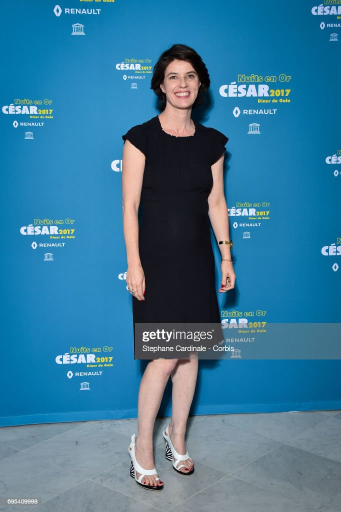 Irene Jacob attends 'Les Nuits en Or 2017' Dinner Gala, at Unesco on June 12, 2017 in Paris, France.
