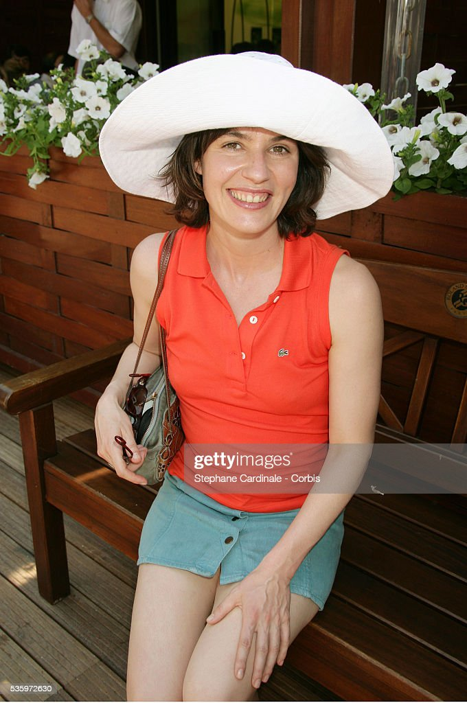 Irene Jacob visits Roland Garros village during the 2005 French Open tennis.