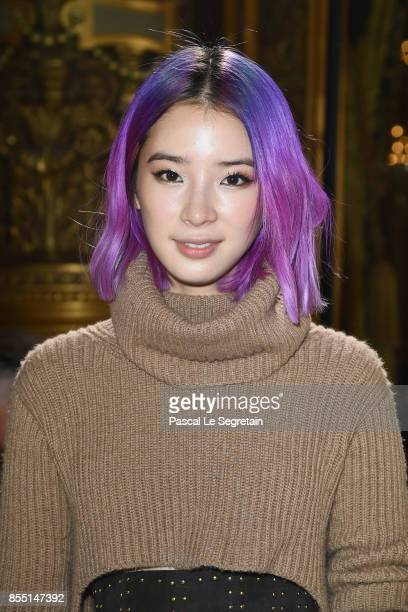 Irene Kim attends the Balmain show as part of the Paris Fashion Week Womenswear Spring/Summer 2018 on September 28 2017 in Paris France