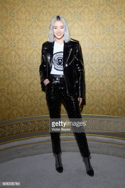 Irene Kim attends the Balmain show as part of the Paris Fashion Week Womenswear Fall/Winter 2018/2019 on March 2 2018 in Paris France