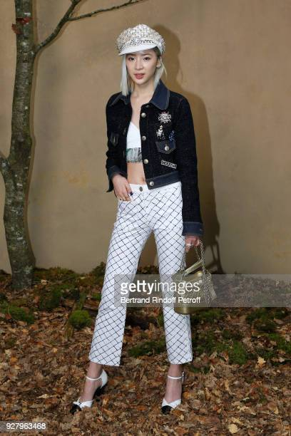 Irene Kim attends the Chanel show as part of the Paris Fashion Week Womenswear Fall/Winter 2018/2019 on March 6 2018 in Paris France
