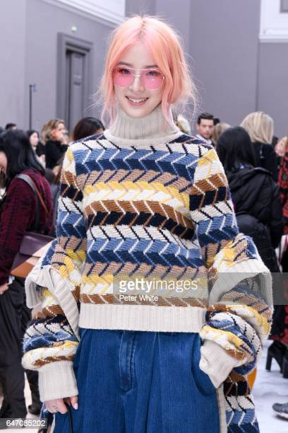 Irene Kim attends the Chloe show as part of the Paris Fashion Week Womenswear Fall/Winter 2017/2018 on March 2 2017 in Paris France