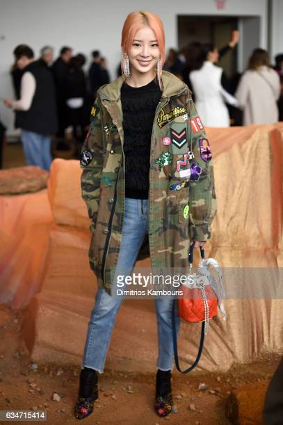 Irene Kim attends the Lacoste fashion show during February 2016 New York Fashion Week at Spring Studios on February 11 2017 in New York City