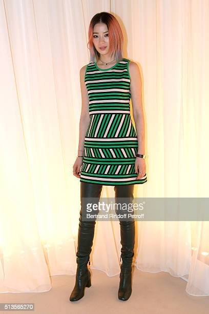 Irene Kim attends the Lanvin show as part of the Paris Fashion Week Womenswear Fall/Winter 2016/2017 on March 3 2016 in Paris France
