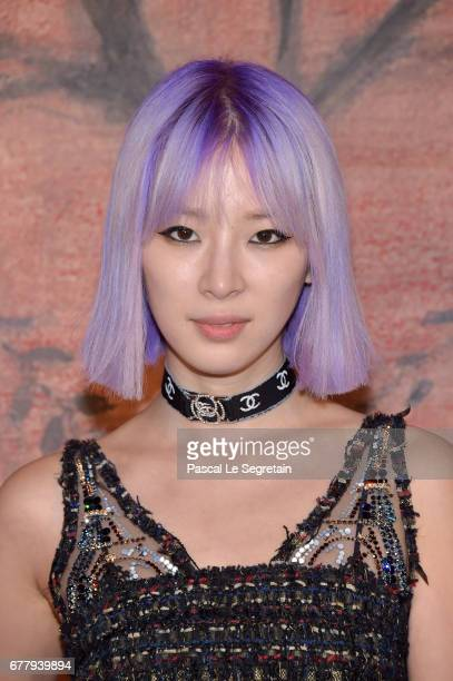 Irene Kim attends the Photocall of the 'Chanel Cruise 2017/2018 Collection' at Grand Palais on May 3 2017 in Paris France