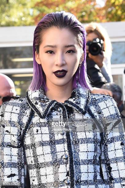 Irene Kim is seen arriving at Chanel show during Paris Fashion Week Womenswear Spring/Summer 2018on October 3, 2017 in Paris, France.