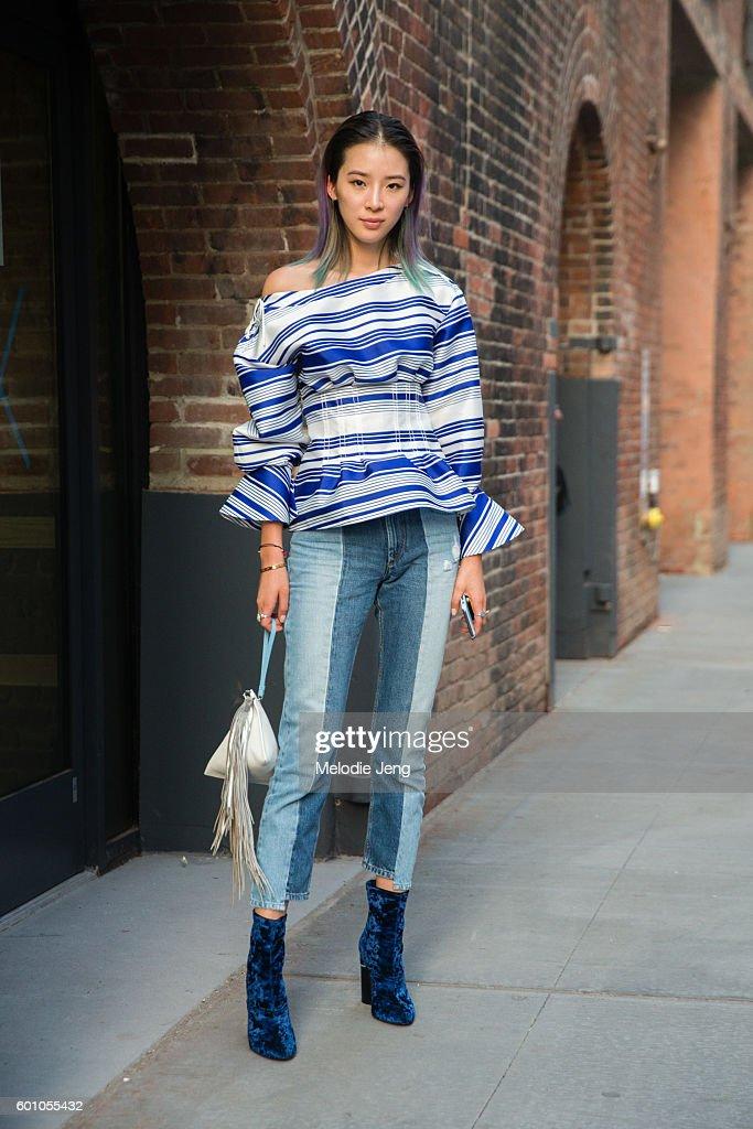 Street Style - September 2016 New York Fashion Week - Day 1 : ニュース写真