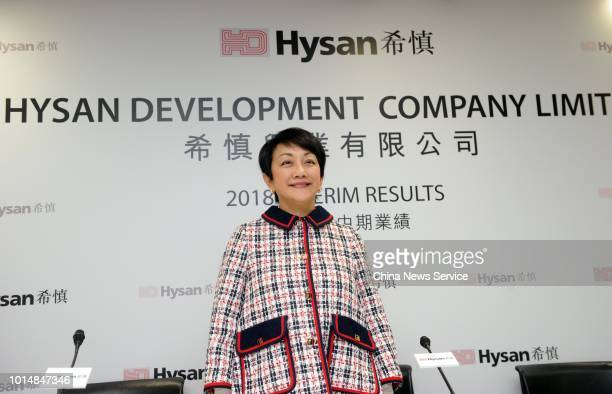 Irene Lee YunLien Chairman of Hysan Development Company Limited attends the press conference of the company's 2018 Interim Results Announcement on...