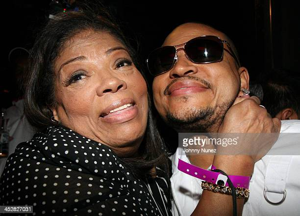 Irene Mama Stokes and son Chris Stokes during Christopher Brian Fashion Show Hosted by Chris Stokes at The Hard Rock Hotel in Las Vegas Nevada United...