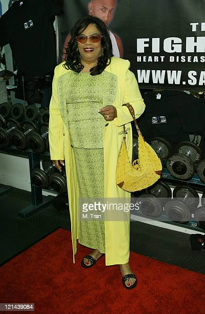 Irene Mama Stokes during Sam Bell Fitness Unites Celebrities to Fight High Blood Pressure and Heart Disease at North Hollywood Gym in North Hollywood...
