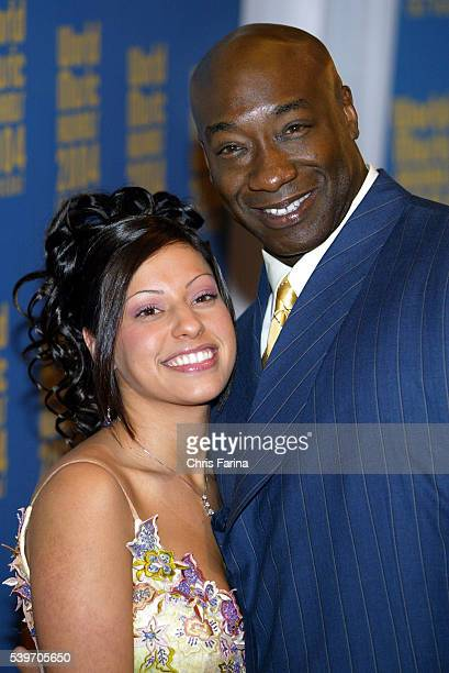 Irene Marquez and actor Michael Clarke Duncan arrive at the World Music Awards 2004 held at Thomas and Mack Center in Las Vegas