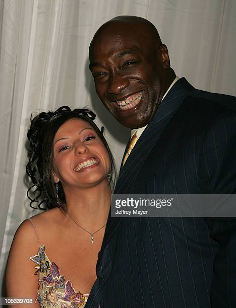 Irene Marquez and Michael Clarke Duncan during 2004 World Music Awards Arrivals at The Thomas and Mack Center in Las Vegas Nevada United States