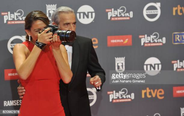 Irene Meritxell and Imanol Arias attend the 'Platino Awards 2017' photocall at La Caja Magica on July 22 2017 in Madrid Spain