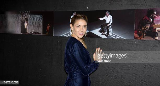 Irene Meritxell attends 'Imanol Arias Named Guest Of Honour In Buenos Aires' ceremony at the Maipo Theater on August 16 2018 in Buenos Aires Argentina