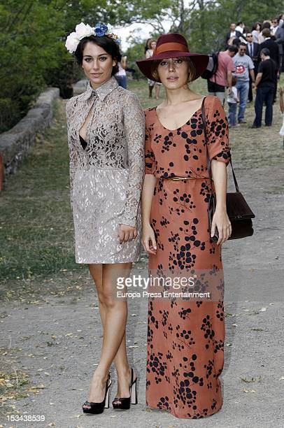 Irene Montala and Blanca Suarez attend the wedding of Juan Pablo Shuk and Ana De La Lastra on September 22 2012 in Biescas Spain