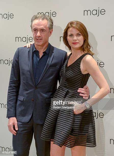 Irene Montala and Daniel Lalonde attend the 'Maje Boutique' store opening on April 16 2015 in Barcelona Spain