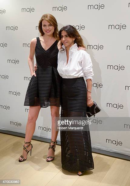 Irene Montala and Judith Milgrom attend the 'Maje Boutique' store opening on April 16 2015 in Barcelona Spain