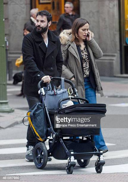 Irene Montala and Miguel Fernandez are seen on December 05 2014 in Madrid Spain