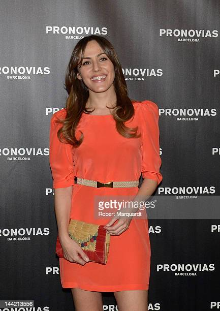 Irene Montala attends a photocall for Pronovias Fashion show at the Museu Nacional d'Art de Catalunya on May 11 2012 in Barcelona Spain