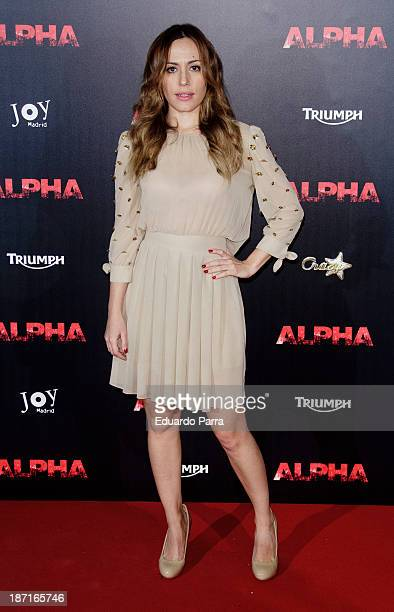 Irene Montala attends 'Alpha' premiere photocall at Kinepolis cinema on November 6 2013 in Madrid Spain