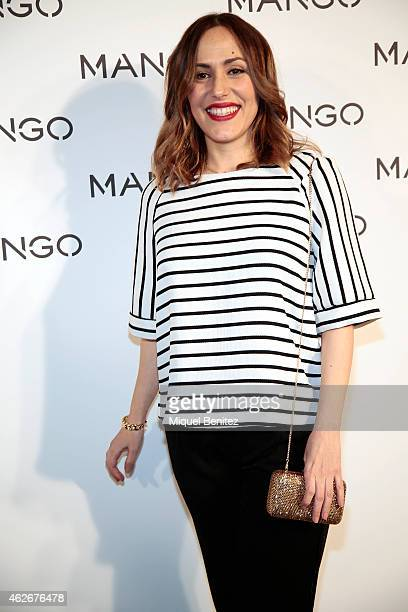 Irene Montala attends the Mango fashion show photocall during the last Mango's collection at the '080 Barcelona Fashion Week 2015 Fall/Winter' on...
