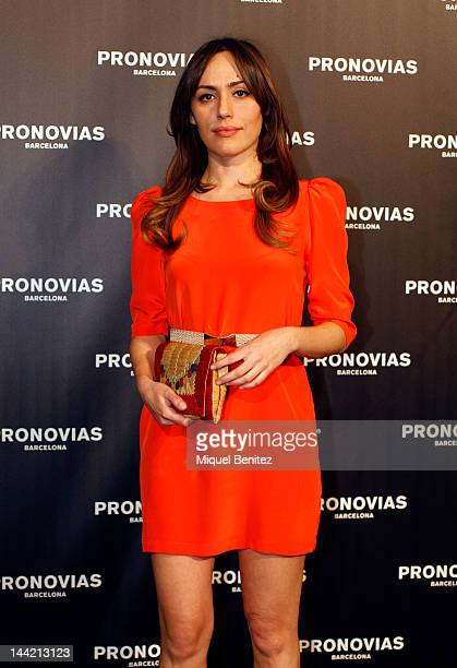 Irene Montala attends the presentation of the new bridal collection by Pronovias during Barcelona Bridal Week on May 11 2012 in Barcelona Spain