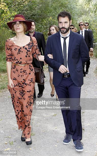 Irene Montala attends the wedding of Juan Pablo Shuk and Ana De La Lastra on September 22 2012 in Biescas Spain