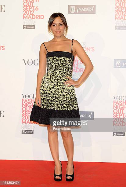 Irene Montala attends Vogue Fashion Night Out Madrid 2012 on September 6 2012 in Madrid Spain