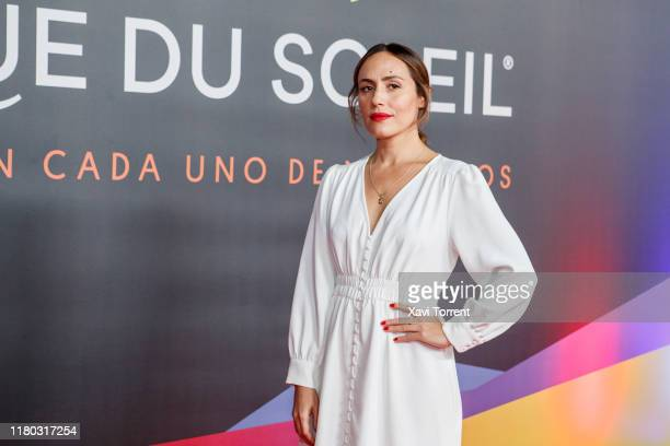 Irene Montala poses on the red carpet during the premiere of 'Messi 10' by Cirque du Soleil on October 10 2019 in Barcelona Spain