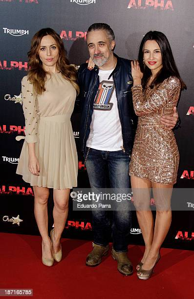 Irene Montala Sergi Arola and Xenia Tostado attend 'Alpha' premiere photocall at Kinepolis cinema on November 6 2013 in Madrid Spain