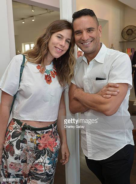 Irene Neuwirth and Isaac Joseph attend Saudi Designer Nora Al Shaikh Unveils Her Coveted Eveningwear Collection At Decades LA at Decades on August 8...