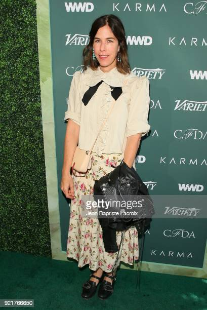 Irene Neuwirth arrives to the Council of Fashion Designers of America luncheon held at Chateau Marmont on February 20 2018 in Los Angeles California