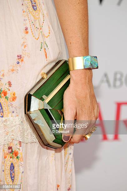Irene Neuwirth clutch/bracelet detail attends the 2016 CFDA Fashion Awards at the Hammerstein Ballroom on June 6 2016 in New York City