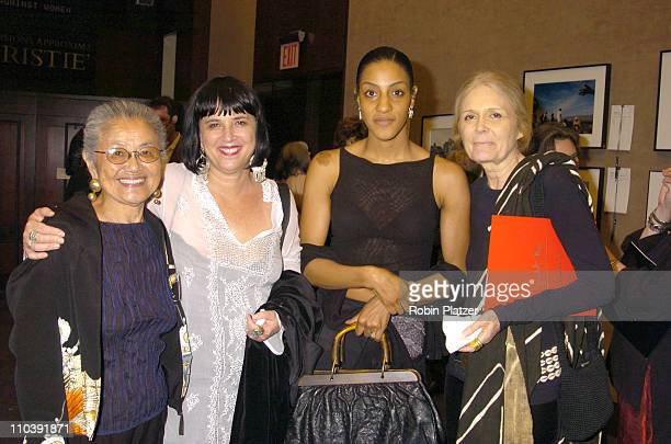 Irene Neves Eve Ensler Sarah Jones and Gloria Steinem