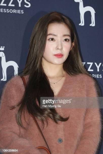 Irene of girl group Red Velvet attends the photocall for HAZZYS on November 22 2018 in Seoul South Korea