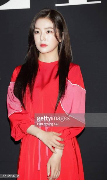Irene of girl group Red Velvet attends the 'VALENTINO' The VLTN PopUp Store Opening on November 7 2017 in Seoul South Korea